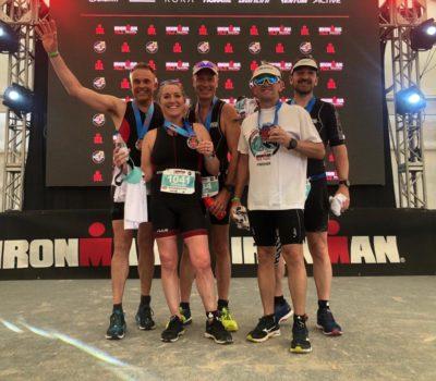 TeamedUp team after running an Iron Man race