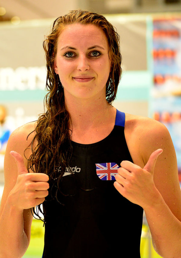 swimmer giving two thumbs up